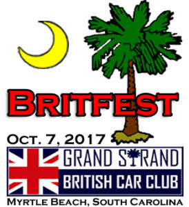 """Myrtle Beach Britfest 2017"" Car Show @ Fifth Annual Myrtle Beach Britfest 2017 Car Show 